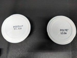 Dram cup label direct TIJ