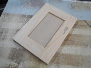 Wood marking with Thermal Inkjet on a Cabinet door made of wood